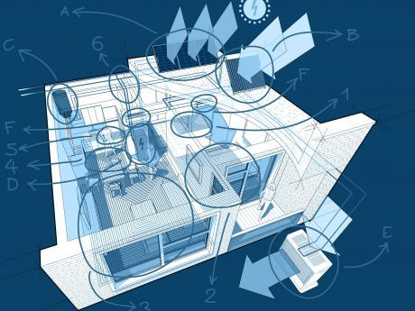 HVAC Blueprints of Home